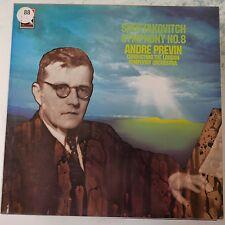Lp de vinilo disco Shostakovich Symphony 8, Andre Previn