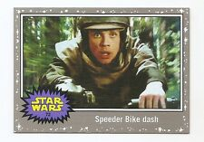 2016 STAR WARS JOURNEY TO THE FORCE AWAKENS SILVER BORDER #72 SPEEDER BIKE DASH