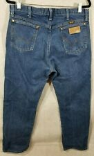Vintage WRANGLER Men's Jeans 36x30 Straight 100% Cotton Made In Mexico c. 1980s