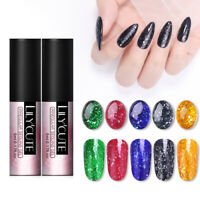 LILYCUTE 5ml UV Gellack Paillette Flakies Nail Art Tränken Sie den Gel Varnish