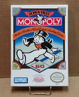 Monopoly - Cartridge, Dust Sleeve & Box - Nintendo NES - FREE SHIPPING