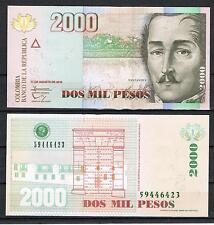 COLOMBIA 2000 PESOS AÑO 2012  Pick 457   SC  UNC