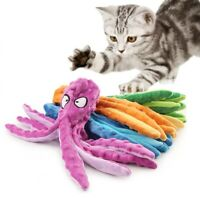 8 Legs Octopus Soft Stuffed Plush Squeaky Dog Squeakers Toy Sounder