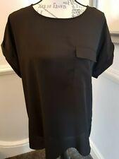 Ladies TU Black Classic Loose Top Short Sleeved Size 14 New