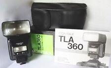 CONTAX Kyocera TLA-360 TTL Auto FLASH w/ Orig Box/Case/Manual Xcond! USA Seller