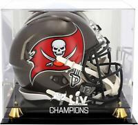 Tampa Bay Buccaneers Super Bowl LV Champs Golden Classic Helmet Display Case