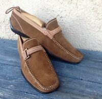 FACONNABLE MED BROWN SUEDE  MEN'S SZ 7.5M DRIVING SLIP-ON LOAFERS /SHOES, ITALY