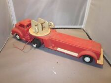 VINTAGE MARX HARD PLASTIC PUMPER FIRE TRUCK MOTORIZED FOR PARTS OR RESTORE