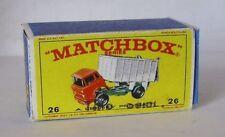 Repro Box Matchbox 1:75 Nr.26 GMC Tipper Truck