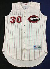 Rare Vintage Cincinnati Griffey #30 Baseball Russell Diamond Jersey Size40