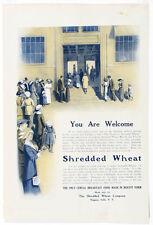 Antique Circa 1913 Illustration Ad SHREDDED WHEAT CO. NY, Harper & Bros.