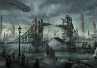 "London steampunk canvas 20""x30"" Wall art"