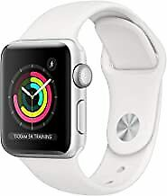 Apple Watch Series 3 38mm Space Gray Aluminium Case with Black Sport Band...