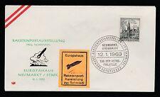1963 Austria rocket mail cover - Schmiedl signed - Ez 38D2