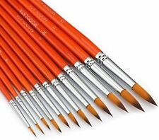 Watercolor Paint Brushes Set - 12Pcs Round Pointed Painting Brush