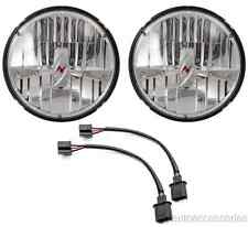 "Universal Round 7"" H4 Chrome Housing LED Headlights w/Anzo Logo Anzo 881035"