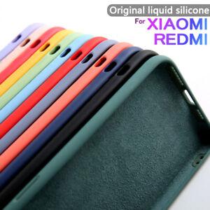 Phone Case For Xiaomi Redmi Note 9s 8T 9A 8 Pro 10T Liquid Silicone Soft Cover