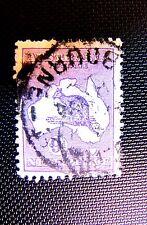 9 KANGAROO ON AUSTRALIA MAP USED 1913 (SEE NOTE)