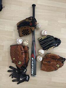 Easton S200 Wilson und Schutt Handschuhe mit Bälle