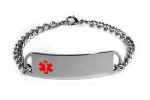 VON WILLEBRAND Medical Alert ID Bracelet. Free medical Emergency Card!