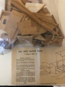 HO Scale 1870's era Railroad Water Tank kit by Ayers Scale Models
