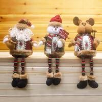 Xmas Tree Hanging Ornament Santa Snowman Reindeer Doll Christmas Decoration Gift