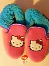 9659dd6c7 HELLO KITTY WOMEN'S MEDIUM 7-8 PINK BLUE PLUSH SLIPPER BOOTS NWT