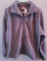 Harvard University Full Zip Fleece Jacket Small Gray Veritas Emblem Coop