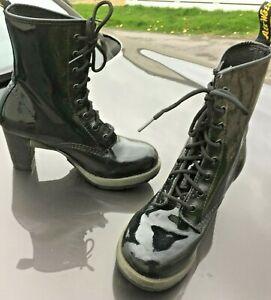 Dr Martens Darcie black patent leather boots UK 5 EU 38 US 7