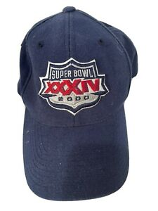 Vintage Nike Hat Super Bowl XXXIV 2000 Men's Adjustable Rams Titans NFL OSFA