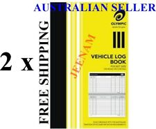 2x Olympic Pocket Vehicle Log Book 180 x 110mm 64 Page Car truck ATO requirement