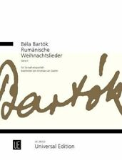 Béla Bartók: Romanian Christmas Carols for saxophone quartet Series Ii Book-New
