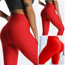 Womens Yoga Pants High Waist Leggings Anti-Cellulite Fitness Workout Trousers