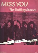 ROLLING STONES  MISS YOU Tab Music Pub 1978 Warner Bros Publishing KEITH RICHARD