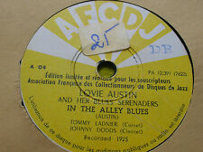 78 rpm- LOVIE AUSTIN and her Blues Serenaders - In the Alley blues -  AFCDJ A 04