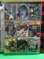BATMAN MASTER SERIES 1995 SKYBOX ARTIST PROOF SET OF 87/90 DC In Binder   N4