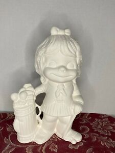 """Smiley Happy Golfer Girl 10"""" Tall from Alberta781 Ceramic Bisque Ready to Paint"""