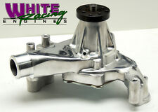 SBC LONG ALUMINUM WATER PUMP POLISHED FINISH # WPM-8012-P