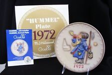 1972 Second Annual Goebel Hummel Bas Relief Plate with Box Hum 265
