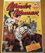 Wonder Woman No. 1 Comic Book Vintage Poster Pin-Up Television Memorabilia 70's