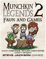 Munchkin Legends 2: Faun and Games Expansion From Steve Jackson Games Card Game