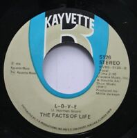 Soul 45 The Facts Of Life - L-O-V-E / Caught In The Act (Of Gettin' It On) On Ka