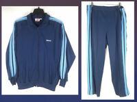 Vintage WILSON 2-Piece Athletic Casual Track Suit Polyester Blue Men's Size XL