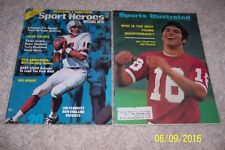 1971 Sports Illustrated STANFORD Cardinals JIM PLUNKETT No #1 DRAFT Patriots Set