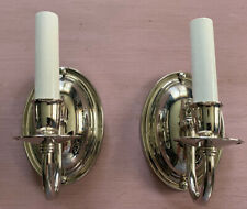 Wall Sconces ~ Pair ~ Nickel Plated ~ New