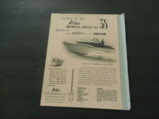 1958 Ad For Atlas Custom Boats Tacoma, WA Atlas Imperial 22 Footer      ID:34639