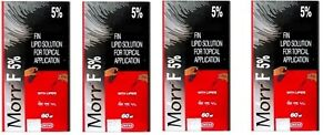 4 pack Morr-F (Minox/Fin.) 5%/0.1% (60mL) Hair regrowth DHT Blocker herbal