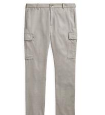 Ralph Lauren Purple Label Grey Slim Fit Wool Cargo Jogger Pants 36 New