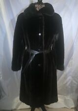 Vintage Dubrowsky & Perlbinder Tissavel France Faux Fur Coat Knee Length Collar