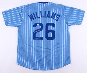 "Billy Williams Signed Cubs Jersey Inscribed ""H.O.F. 87"" (JSA) 1972 Batting Champ"